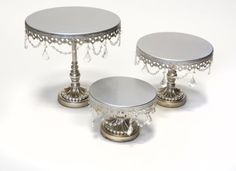 Opulent Treasures Round Cake Plate Stands (Set of 3) Opul... https://www.amazon.com/dp/B00KPEXPO4/ref=cm_sw_r_pi_dp_x_ZC0lybG1VWRMX