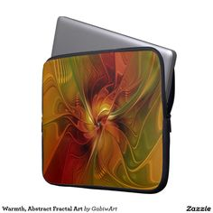 Warmth, Abstract Fractal Art Laptop Computer Sleeves
