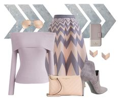 """""""chevron"""" by art-gives-me-life ❤ liked on Polyvore featuring Chicwish, Karl Lagerfeld, Kendall + Kylie, FOSSIL, Kate Spade, Linda Farrow, chevron, contestentry and stylesfavoritepeople"""