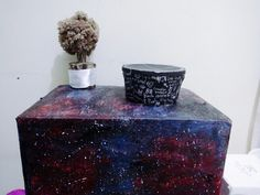 #galaxy #galaxybox #diygalaxycardboard #diygalaxy #nebulabox #spaceart #spacepainting