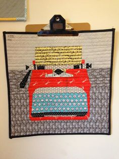 Fabulous paper piece patchwork typewriter. Love this. Definitely something I want to do one day