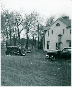 RARE: Elvis on tractor at Graceland.