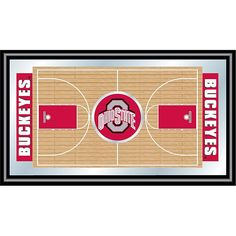 Trademark Global, Inc. Ohio State Framed Basketball Court Mirror