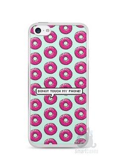 Capa Iphone 5C Donut Touch My Phone - SmartCases - Acessórios para celulares e tablets :)