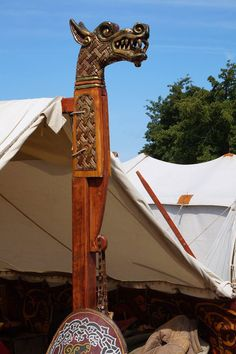 Awesome tent post!!! Viking & Slovian festival in Wolin/Poland.
