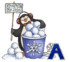 Oh my Alfabetos!: Alfabeto Navideño tintineante de pingüinos.