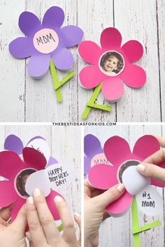 Flower template for Mother's Day. Mother's Day Craft for Kids. Flower Craft for Kids. Mother's Day Craft for Preschoolers. Mother's Day Craft for Toddlers. Mothers Day Crafts Preschool, Easy Mother's Day Crafts, Quick Crafts, Toddler Crafts, Projects For Kids, Diy For Kids, Art Projects, Cadeau Parents, Snail Craft