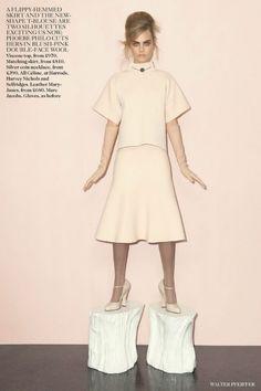 "nice Vogue UK Setembro 2013 | Cara Delevingne em \""Pink Lady\"" por Walter Pfeiffer   [Editorial]"