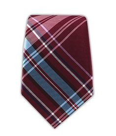7c8c8f0ad7dc 100% Woven Silk The Director's Plaid Cranberry 3