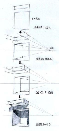 手描きパースの描き方ブログ、パース講座(手書きパース):建築パース もっと見る