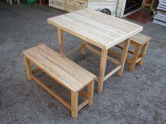 โต๊ะม้านั่ง โต๊ะเก้าอี้ไม้ ราคาโรงงาน ที่ [ตลาดใหญ่™]