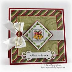 """JustRite Stampers:  JB 09780 Hearts Come Home  JB 08407 2"""" Square Stamper  Dies:  Spellbinders Nestabilities Classic Squares, Fancy Tags"""
