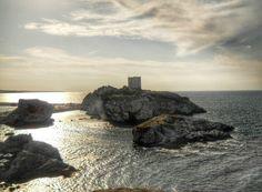 Şile castle and sunset