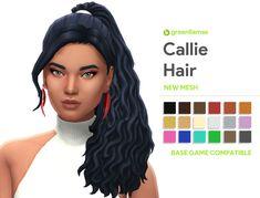 The Sims 4 Callie Hair - greenllamas by greenllamas Sims 2, Sims 4 Mm Cc, Sims Four, Sims 4 Cas, Maxis, Sims 4 Game Mods, Sims Games, Sims 4 Mods Clothes, Sims 4 Clothing