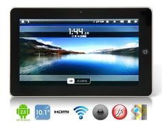 10.1 inch Android 2.3 INFOTMIC X210 1GHz #TabletPC with Wi-Fi, HDMI Output, GPS, Resistive Touch (4GB) (Black)