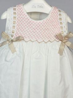 vestido nido de abeja verano bebe niña