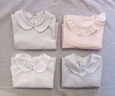Baby blouses in diferent patterns to create beautiful baby outfits for the Christmas celebrations #lanolinokids #etsy #babyoutfits #patterns #etsyshop #handmadeloves #etsybcn #etsystore www.etsy.com/shop/lanolino
