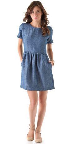 chambray avalon dress ++ madewell