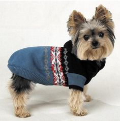 Blue Hooded Dog Sweater with Nordic Print size x-small, ZW428 XS -- Insider's special review you can't miss. Read more  : Dog sweaters