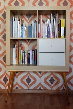 Un meuble étagère années 70 avec KALLAX #années70 #étagère #ikea #KALLAX