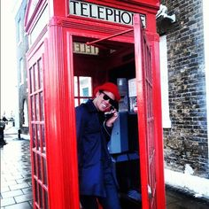 Red Phone Booth, London, England. Michael George Hallett, Australian Abroad