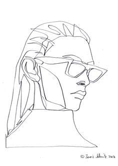 """Gaze 499″, continuous line drawing by Boris Schmitz"