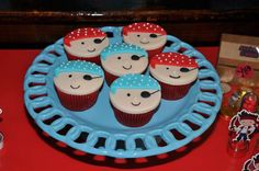 Pirate birthday party cupcakes!  See more party planning ideas at CatchMyParty.com!