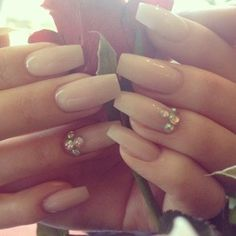 coffin shaped nails french tip - Google Search