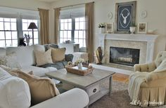 Family Room REveal on a ridiculously SMALL budget, source guide @ City Farmhouse.