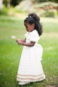 precious flower girl.