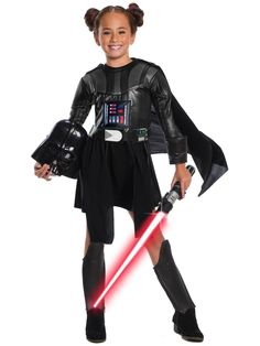 Star Wars Movie Darth Vader I Am Costume Black Skater Dress