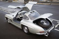 This rare 1955 Mercedes-Benz #300SL #Gullwing went under the hammer for a record-busting - including buyer's premium - $4.62 million at an auction in Scottsdale, Arizona in 2012. The vintage #300SL is a genuine all-aluminium mint condition example. Source: http://www.luxury-insider.com/luxury-news/2012/01/1955-mercedes-benz-300sl-gullwing-sells-for-record-462-million