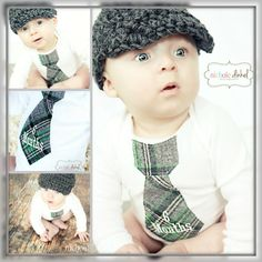 I like this idea for monthly photos for baby boy