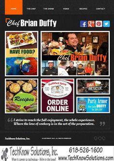 Chef Brian Duffy Website! #techknowsolutions