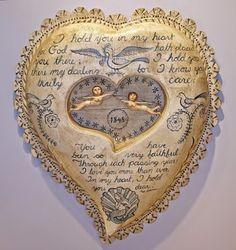 A House Romance: Beach House - hand carved sailor's valentine