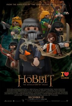 Películas memorables hechas con Playmobil Toy Display, Plastic Doll, Jouer, Middle Earth, Lord Of The Rings, Tolkien, The Hobbit, Legos, My Childhood