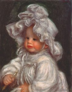Pierre Auguste Renoir  young girl in a lace hat 1891