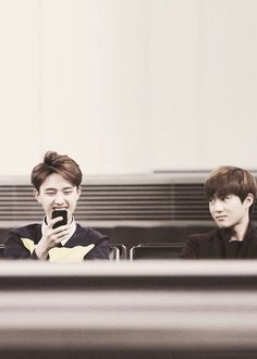 Kyungsoo and Suho <3 <3 <3 That stare!