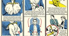 Manly Skills   The Art of Manliness -- 3 Ways to Escape Zip Ties: An Illustrated Guide