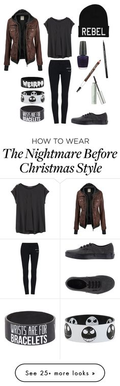 """Dark"" by rebelious-aquarius on Polyvore featuring Violeta by Mango, Vans, OPI, Maybelline, Origins, women's clothing, women's fashion, women, female and woman"