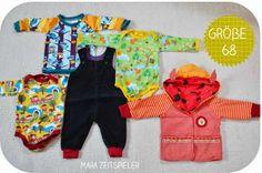 Babygarderobe zu großen Teilen aus aussortierter Kleidung / Baby's wardrobe mainly made from discarded clothes / Upcycling
