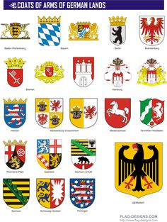 Coats of Arms of German Lands  GermanyMore Pins Like This At FOSTERGINGER @ Pinterest