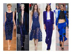 Cobalt Blue sweeps the runways from Paris to Milan to London. This eccentric, elegant colour is a bold, seductive head-turner -- catch the trend this spring!