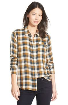 Lucky Brand 'Bungalow' Plaid Button Back Shirt available at #Nordstrom