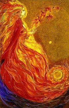 """""""Firebird"""" by Susan Seddon Boulet, 1975"""