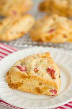 Vanilla Bean Rhubarb-Ginger Scones - Brown Eyed Baker - A Food & Cooking Blog