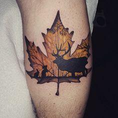 Image result for Maple leaf tattoos