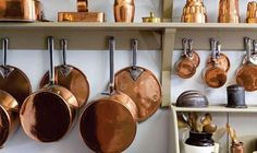 A guided tour of the Georgian House - Period Living Georgian Kitchen, French Kitchen, Copper Kitchen, Old Kitchen, Kitchen Items, Country Kitchen, Kitchen Dining, Kitchen Decor, Copper Pots