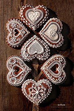 Cookie hearts decor.  Harmonie