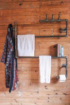 This is just brilliant! Ryman Loft Bathroom Series Unit s.- This is just brilliant! Ryman Loft Bathroom Series Unit stellableudesigns, vi… This is just brilliant! Ryman Loft Bathroom Series Unit stellableudesigns, via Etsy. Loft Bathroom, Bathroom Shelves, Bathroom Storage, Floating Shelves Bedroom, Rustic Floating Shelves, Casa Retro, Diy Home Decor Rustic, Decoration Originale, Pipe Furniture